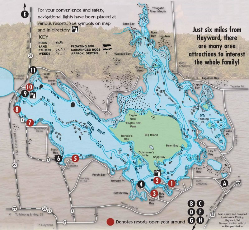 Lake Map Take a Break on Nelson Lake